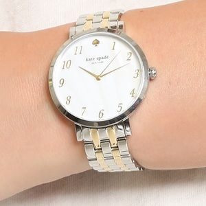EUC Kate spade two tone gold & silver watch